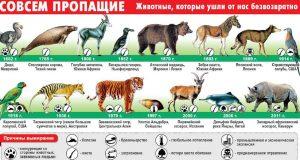 Вымершие виды животных.