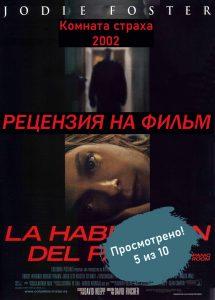 Panic Room. Комната страха. Рецензия на фильм.